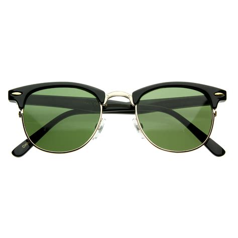 vintage half frame semi rimless horn rimmed style classic