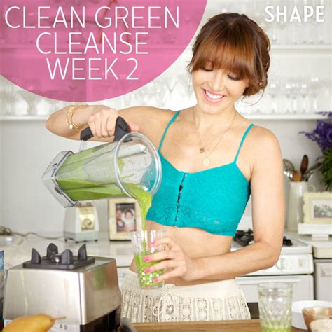 Week Juice Detox by Clean Meal Plan With Green Smoothie Recipes Shape