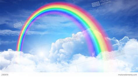 Rainbow Of rainbow sky a stock animation 290979