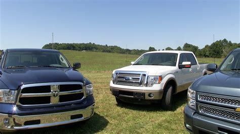 2013 Ram 1500 vs Ford F 150 vs Chevy Silverado 0 60 MPH