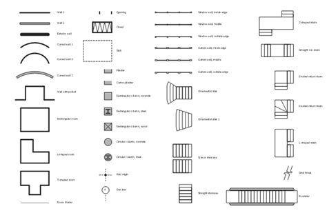 Floor Plan Elements by Design Elements Walls Shell Structure