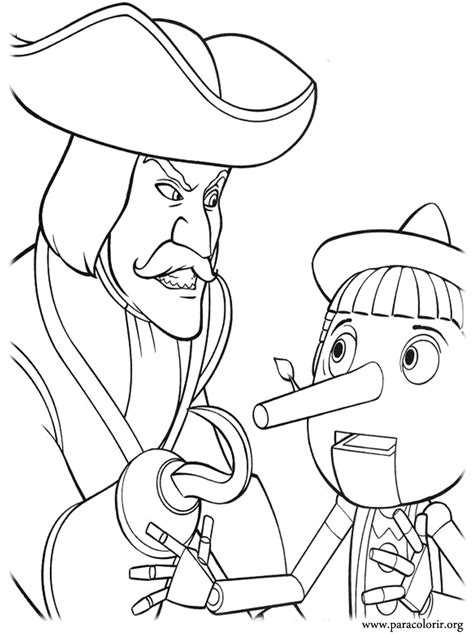shrek coloring pages shrek captain hook and pinocchio