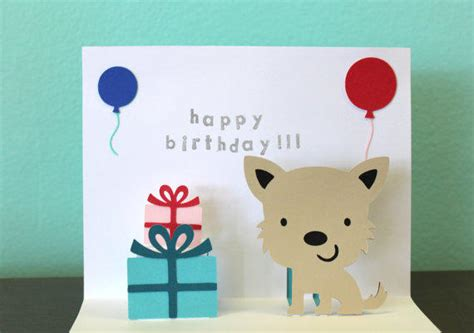 Puppy Birthday Card Template by Pop Up Card Birthday Card From Choodaloo On Etsy