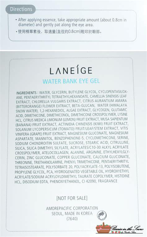 List Laneige review laneige waterbank eye gel berries in the snow