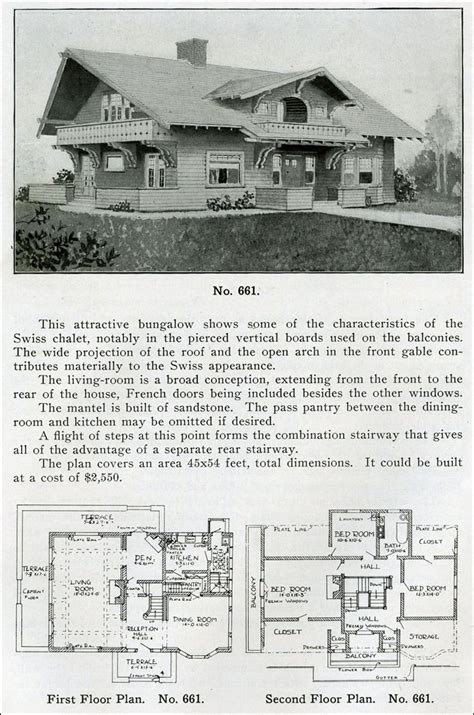 1910 house plans design no 661 from quot the bungalow book quot by henry wilson