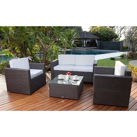 mobilier jardin resine tressee bricolage et