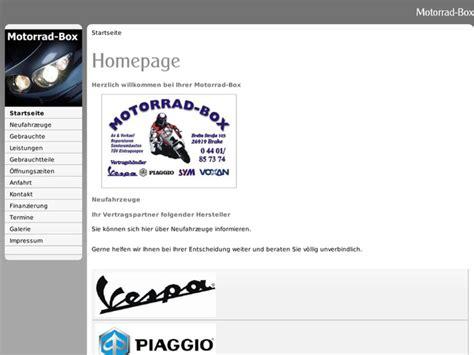 Motorrad Hoppe De by Motorrad Box Hoppe In Brake Motorradh 228 Ndler