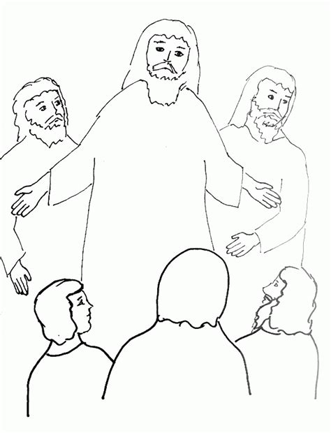jesus transfiguration coloring page coloring home