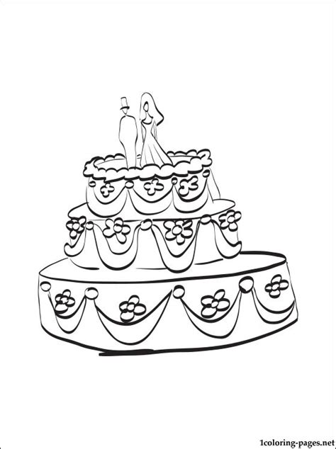 coloring pages wedding cakes wedding cake coloring page coloring pages