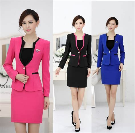 design clothes business 2017 new uniform style formal work wear suits for ladies