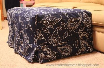 how to sew a slipcover for an ottoman ottoman slipcover with box pleat skirt allfreesewing com