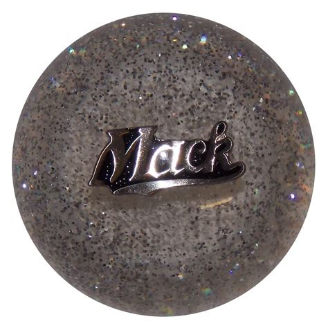 Mack Shift Knob by Mack Script Clear Glitter Shift Knob