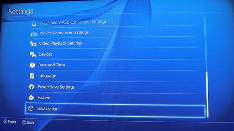 factory reset the ps4 how to reset ps4 to factory youtube