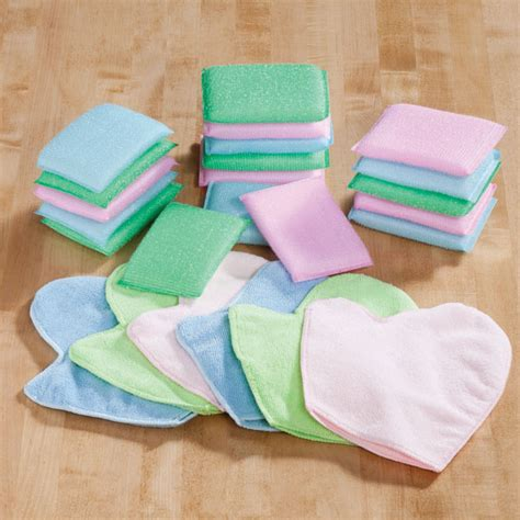 Kitchen Cleaning Sponge Set sponge and cleaning mitt set 24 pc cleaning sponges