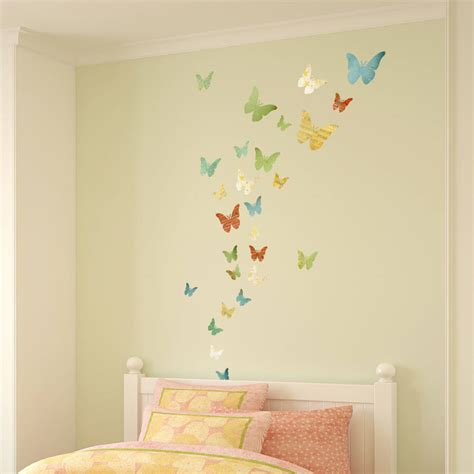 wall stickers butterfly patterned butterfly wall stickers by spin collective