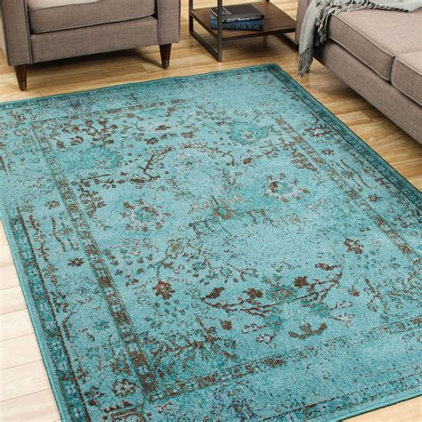 the conestoga trading co renaissance teal gray area rug