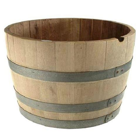 barrys barrels half wooden wine barrel 70cm oak sku