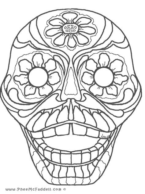 day of the dead face coloring pages dia de los muertos coloring pages coloring home