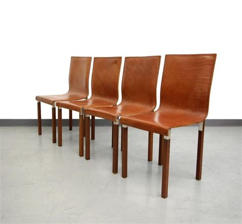 modern industrial dining set set of four leather emile industrial modern dining chairs