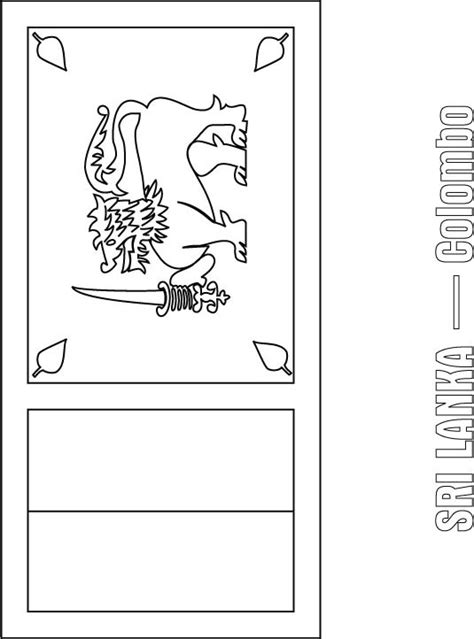 sri lanka flag free colouring pages