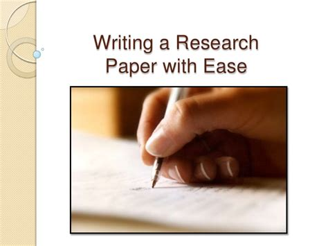 how to write a simple research paper writing a research paper in 10 easy steps