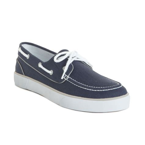 polo ralph lander p boat shoes in blue for