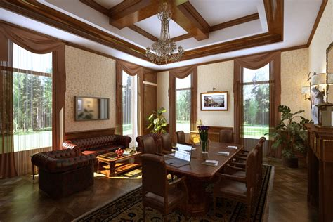 Interior Designs For Home Lovely Home Interior In Classic Style Decobizz