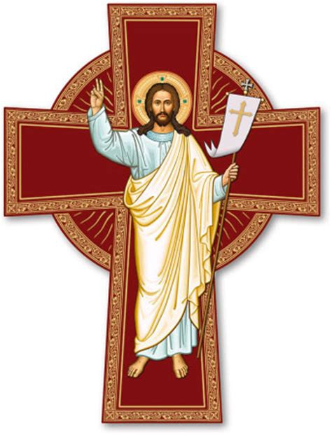 Jesus Home Decor by Icon Crucifixes Risen Christ Cross Monastery Icons