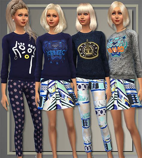 my sims 3 blog kenzo outfit for females by irida sims sim 4 clothing kenzo spring 2015 from all about style