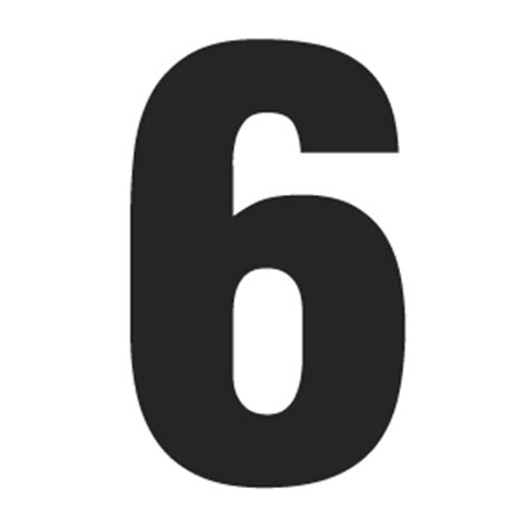 printable giant numbers solid number 6