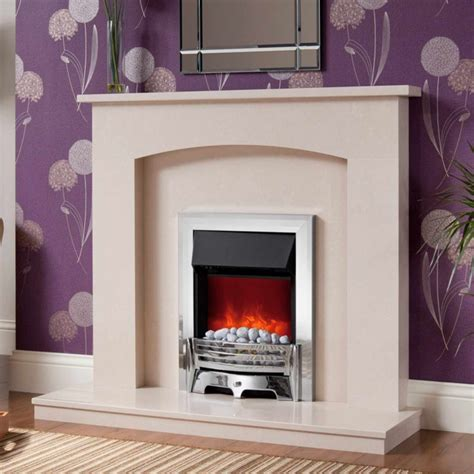 Modern Electric Fireplace Suites by Fast Delivery Be Modern Isabelle Manila Marble Fireplace