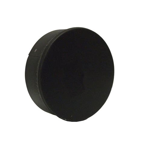 10 duct cap master flow 6 in x 6 in black stove pipe duct cap badc6
