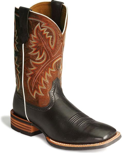 mens western boot ariat s quickdraw 11 quot western boot square toe