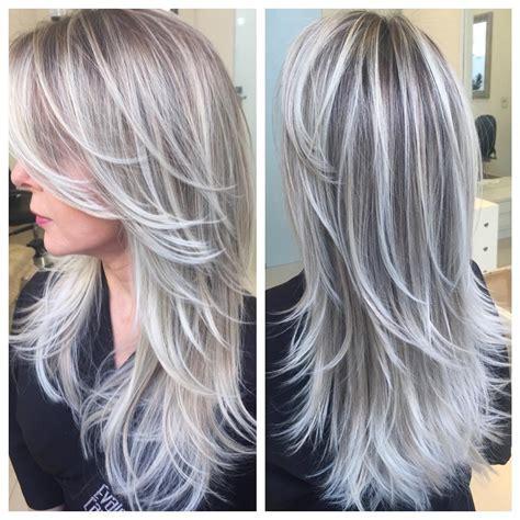 platinum blonde hair with brown highlights dark brown hair dark brown hair black lowlights long