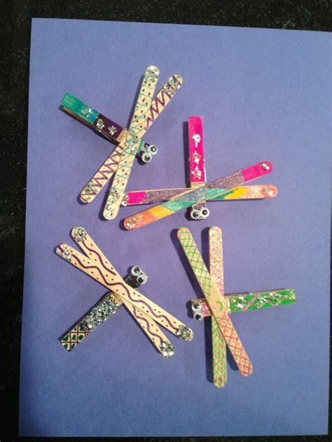 kindergarten activities with popsicle sticks popsicle stick dragonfly craft crafts and worksheets for