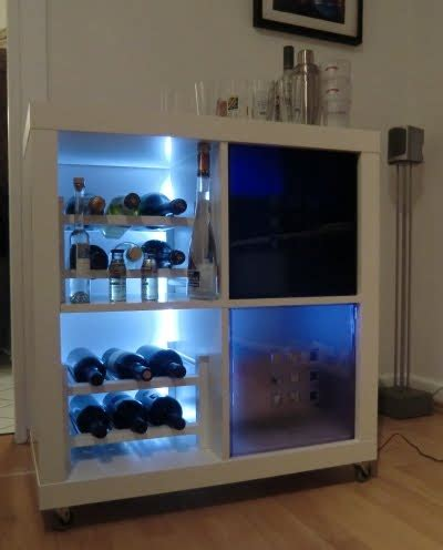 Mini Bar Table Ikea A Rolling Minibar Cobbled Together From Ikea Pieces To Get The Fancy Backlighting The Creator