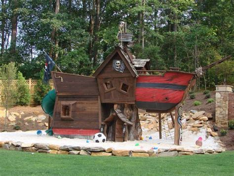 pirate ship backyard playset scallywag pirate tree house eclectic outdoor