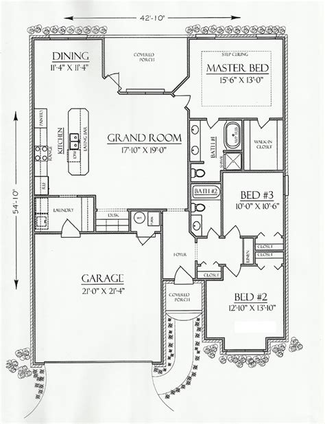 floor plan of cottage country european house plan
