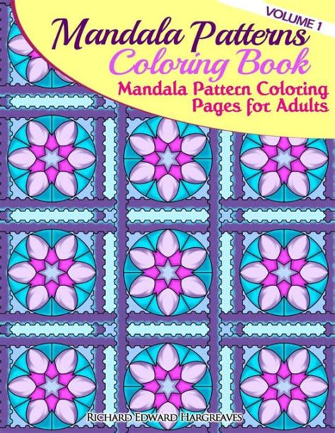 mandala coloring books barnes and noble mandala pattern coloring pages for adults by richard