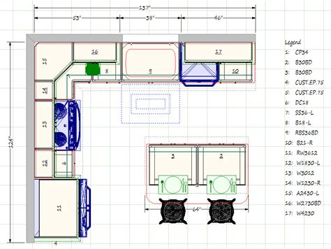 kitchen design blueprints floor plans with an island kitchen floor plan design