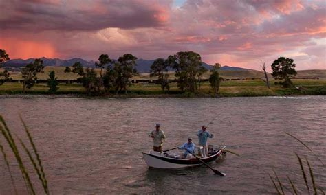 drift boat zipline yellowstone river montana fly fishing cing whitewater
