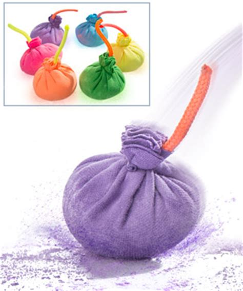 Strange Home Decor Chalk Bombs Balls That Create Colored Chalk Puffs With