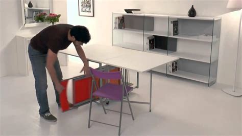 tavolo pieghevole con sedie a scomparsa archimede consolle tavolo e 6 sedie
