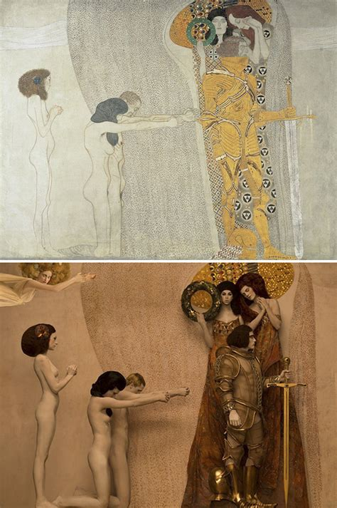 painting real gustav klimt s paintings get recreated with real