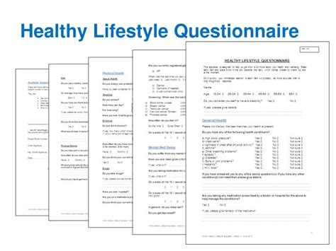 lifestyle questionnaire template 28 images