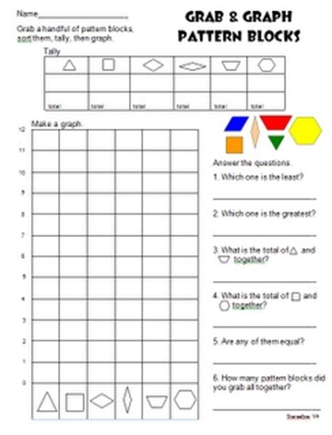 pattern block questions 32 best images about graphing tallies math on pinterest