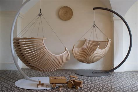 modern and elegant wood hanging chair for modern interior