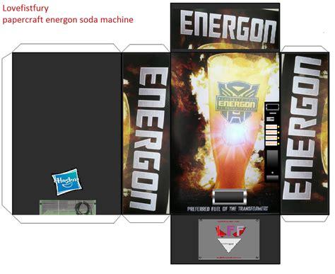Papercraft Machines - papercraft energon soda machine template by lovefistfury