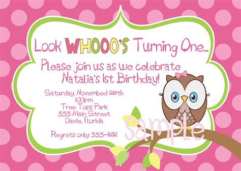 owl birthday invitation template owl birthday invitations bagvania free printable