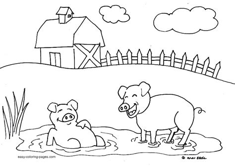 preschool farm coloring pages az coloring pages